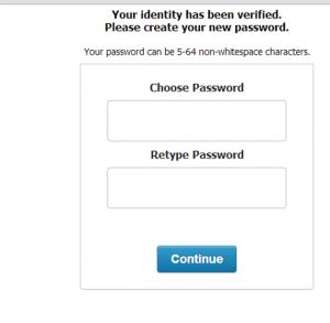 Password Reset - Create New Password
