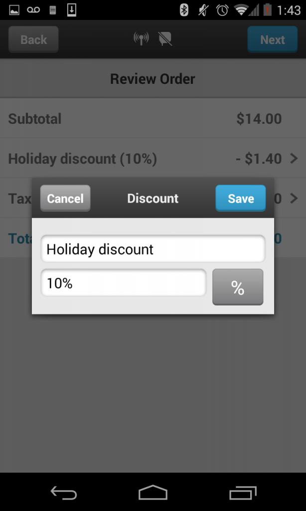 Edit Discount- Transaction