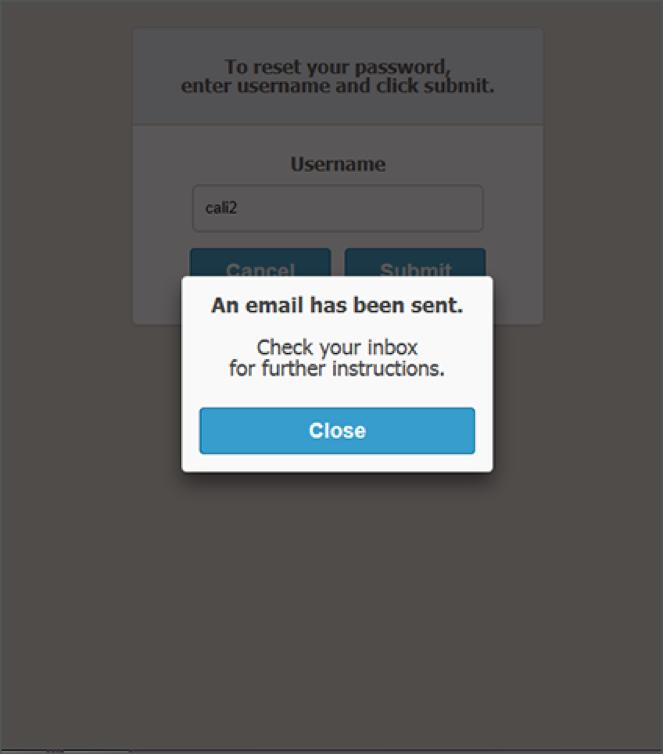 Forgot Password Confirmation
