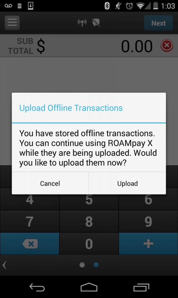 Offline Upload