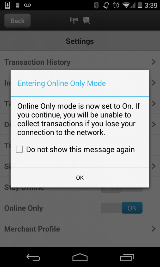 How do I disable/enable Offline Mode? |