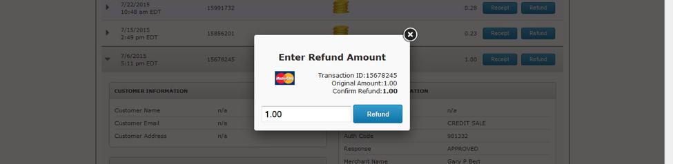 Refund Amount