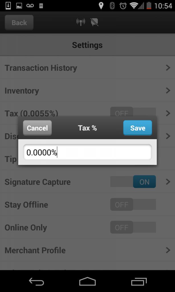 Tax Setting